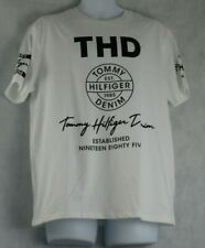 Tommy Hilfiger Men's Short-Sleeve Logo Graphic T-Shirt, White, Large L