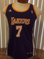 Lamar Odom Los Angeles Lakers Purple Jersey Adidas NBA4Her Womens Large