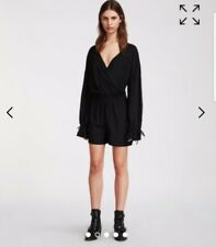 ab99da46c75e Bnwt Allsaints Penny Black Long Sleeve Playsuit Size Large Rrp£128 BUTTON  MISSIN