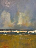 """Abstract Landscape Seascape Painting. """"Breaking Wave"""""""