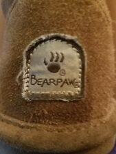 Girls Brown Bear paw Boots Size 3 Warm Ankle Boots Casual
