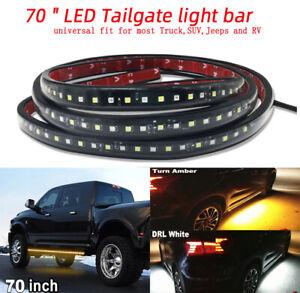 2x 180cm Car Side Running Board LED Light Amber White Turn Signal DRL Strip Bar