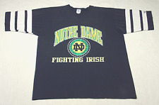 Vintage NOTRE DAME Football Jersey T-Shirt (80s/90s) Logo 7 FIGHTING IRISH! XL