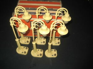 LOT OF SIX LIONEL -EARLY POST WAR # 58 GOOSE NECK LAMP POSTS-TESTED-BOXED C-6