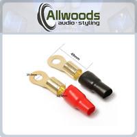 0 GAUGE RING TERMINALS  RED BLACK 0 AWG terminals 2 pack 1 pairs