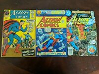 Great Bronze Age Comics! (Lot of 3 ) Action Comics