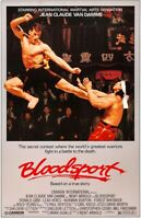 "BLOODSPORT - JEAN CLAUDE VAN DAMME - MOVIE POSTER - 24"" x 36"""