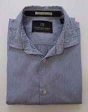 Scotch Soda Amsterdam Couture Long Sleeve Blue White Striped Casual Shirt Medium