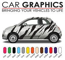 Fiat 500 car graphics tiger stripes decals stickers vinyl f5001