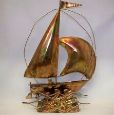Copper or brass  Musical Sailboat