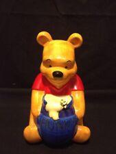 Vintage Disney China Winnie The Pooh Hunny Pot Ceramic Coin Piggy Change Bank