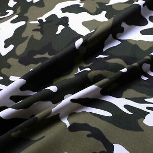 "Cotton drill fabric - Camouflage design - 98% Cotton 2%Elastane - 60"" wide"