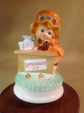 "Vintage Music Box Little Girl Lemonade Stand Plays ""My Way"" Tundra Imports"