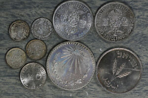Lot of 9 Uncirculated Foreign Silver Coin! - See Description