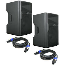 "Peavey (2) Pvx15 Pro Audio DJ 800W Passive 15"" Pa Speakers & Speakon Cables New"