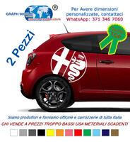 2 Adesivi Loghi laterali bisce ALFA ROMEO stickers tuning car mito 147 giulia