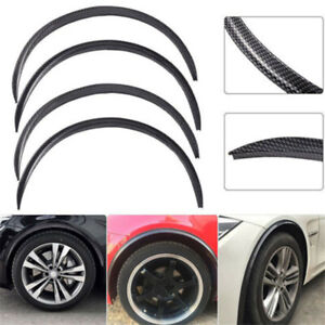4Pcs 28.7in Car SUV Soft Rubber Wheel Eyebrow Trim Protector Lips Fender Flares