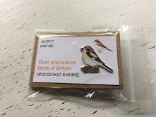 More details for woodchat shrike rare and scarce enamel pin badge sgw birding rspb interest rare