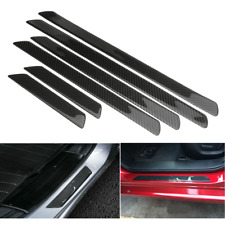 2x Carbon Fiber Car Door Sill Scuff Plate Cover Panel Guard Protector Universal
