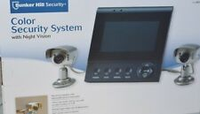 NEW Bunker Hill 62284 Color 2 Camera Security System With Night Vision
