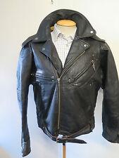 "VINTAGE Harley Davidson Heavy Weight Leather Motorcycle Biker Jacket  L 42"""
