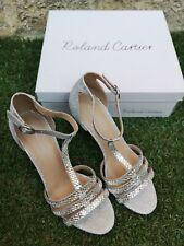 Nuevo Y En Caja ~ Roland Cartier mabell Plata Brillo Boda, Graduación, Fiesta Zapatos ~ Reino Unido 6