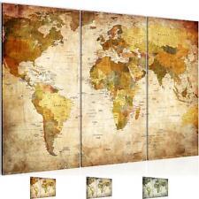 WANDBILDER XXL BILDER Weltkarte World map VLIES LEINWAND BILD KUNSTDRUCK 103431P