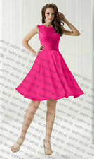 New knee Length Bridesmaid Dresses Formal Evening Dress Prom Dress Size 6+++++18