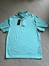 Nwt Under Armour Loose Fit Heat Gear-Polo Golf Shirt Large Mint GreenHeather New