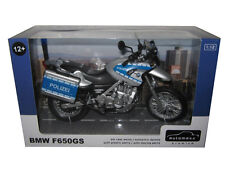 BMW F650GS POLICE POLIZEI BIKE 1/12 MOTORCYCLE MODEL BY AUTOMAXX 600404PO