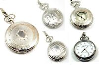 Jakob Strauss Silver Tone DAD Gents Mens Fathers Day Gift  Pocket Watches