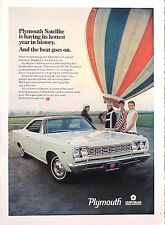 1968 Plymouth Satellite ORIGINAL Old Ad  C MY STORE 4MORE ADS   5+= FREE SHIP