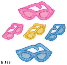 5PC~BEACH SUNGLASSES~IRON ON EMBROIDERED APPLIQUE PATCH