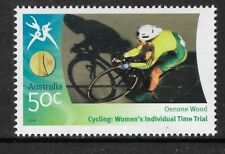 AUSTRALIA 2006 COMMONWEALTH GAMES CYCLING Women's Time Trial Oenone Wood 1v MNH
