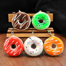 Newly 5CM Cute Donuts Soft Squishy Colorful Cell Phone Charms Key Chain Toy Gift