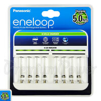 Panasonic eneloop 8 Cells Charger Smart Rechargeable AA AAA batteries BQ-CC63