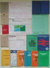 BR Mixed Ephemera Job Lot Including Electrified Line Instructions, Parcels Forms