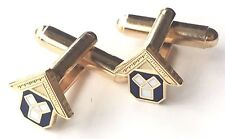 Masonic Past Master Small Faced Crested Cufflinks (N248) Gift Boxed