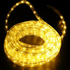 LED Rope Light 110V Lighting Indoor/Outdoor Xmas Christmas 25FT Warm White