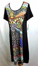 Just Love Women Plus Size 1x Black Purple Pink Floral Summer Sun Dress Yellow