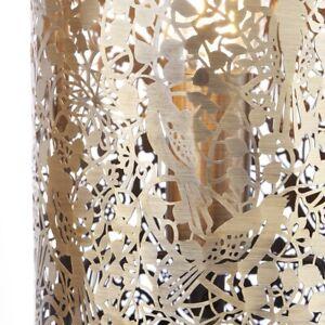 Decorative Desk Lamp in Brass/Ivory Stunning Light Effect Gardenia Range by N.L.