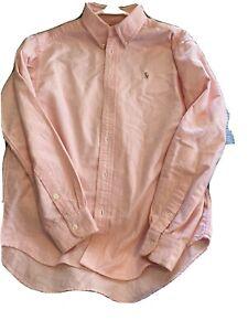 Polo Ralph Lauren Checked Button Down Shirt 14-16 large light pink