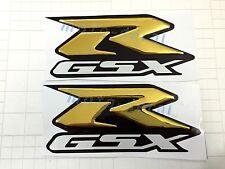 GSX-R Raised 3D Chrome GSXR 1000 750 600 Gold Decal Emblem Fairing Sticker Bling
