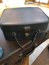 Vintage BLUE Vanity Case Boho Retro Travel Weekender
