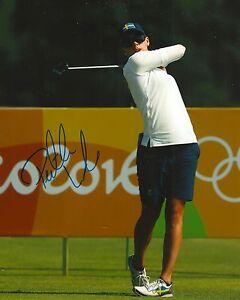 PERNILLA LINDBERG signed LPGA 8x10 RIO OLYMPICS SWEDEN photo with COA