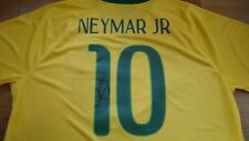 Neymar Junior Jr Hand Signed Brazil Shirt £175