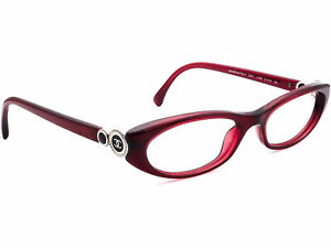 Chanel Eyeglasses 3201 C.539 Collection Bouton Red Oval Frame Italy 51[]16 135