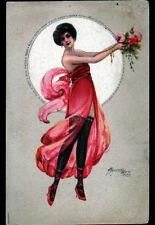 MODE / FEMME avec SOUS-VETEMENTS & ROBE voilée illustrée par M. CHERUBINI 1919