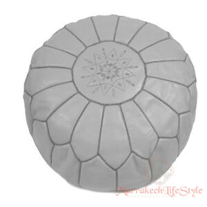 Best Seller MOROCCAN POUF Leather Pouf Ottoman Pouffe footstool free shipping !