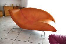 MAM Leder Ottomane - Chaiselongue, orange / limited edition / Designermöbel